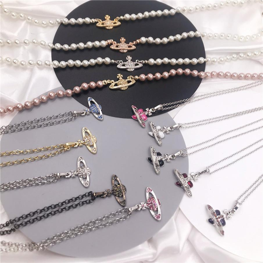 Pendant Necklace Saturn Necklaces 40CM Fashion Wild Necklace Female Simple Pendants For Women Fashion Jewelry Gift