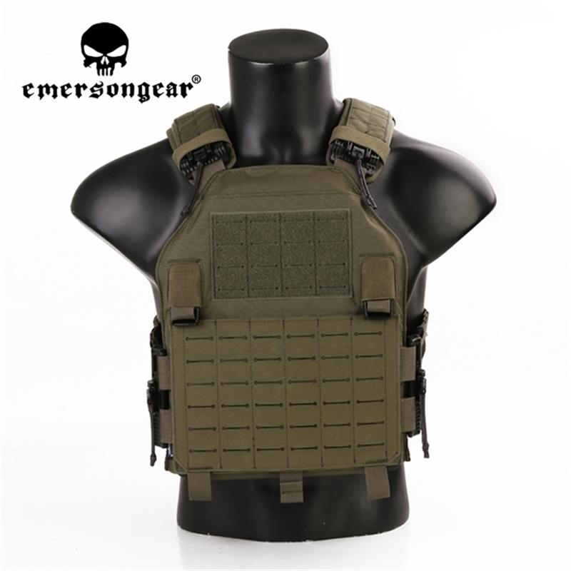 Emersonsamear Lightweight Quick Release Lavc Assault Plate Carrier Weste Laser Molle Molle Military Protect Taktische Jagd Airsoft Gay 201214