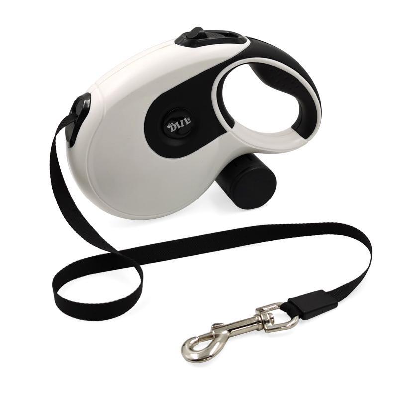 قابل للسحب كلب المقود مع حقيبة أنبوب مجموعة دائم قوي المقود للكلاب المتوسطة الكبيرة التلقائي الكلب تشغيل المشي الرصاص حبل LJ201109