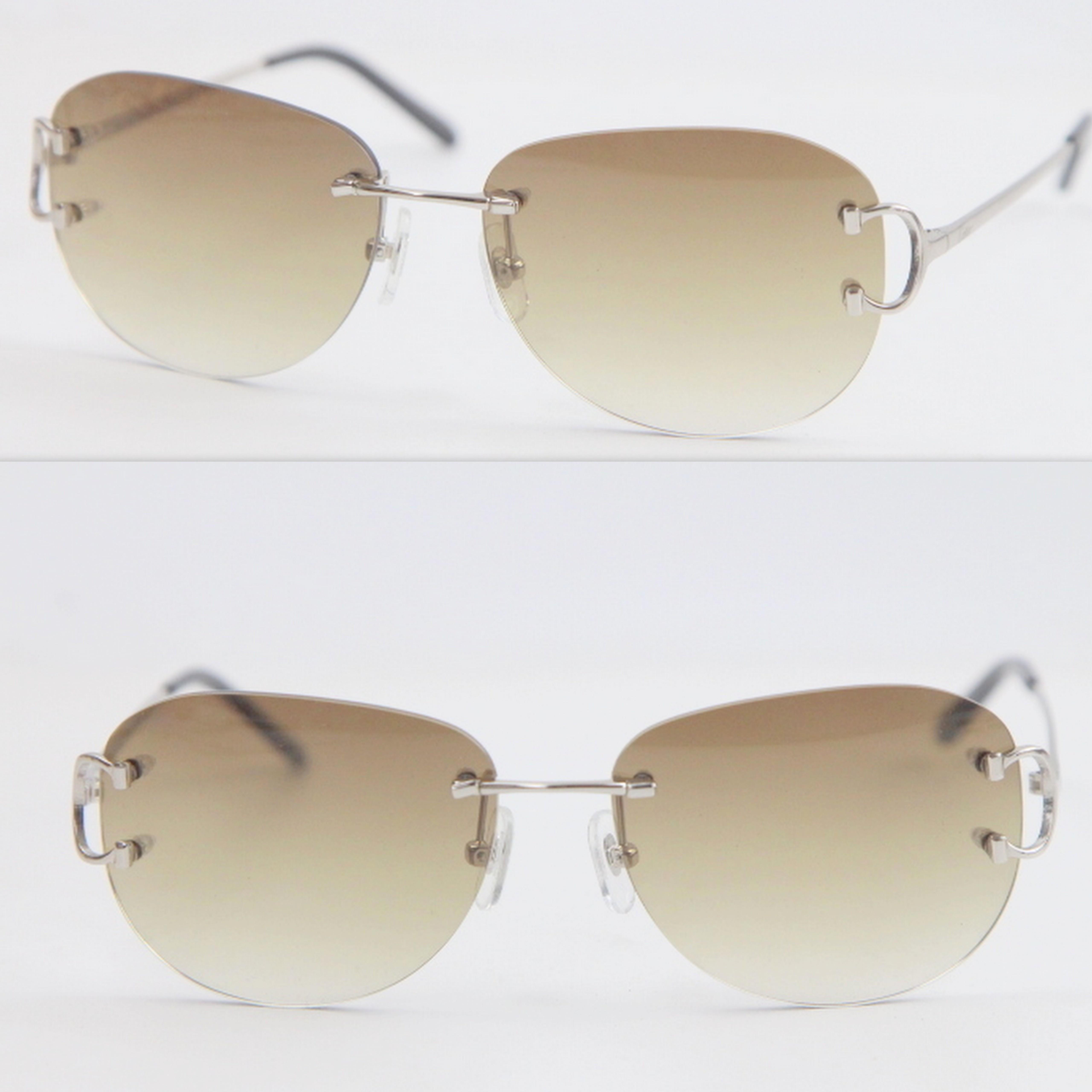 Novos Homens Dirigindo UV400 Ao Ar Livre Óculos De Moda Óculos De Sol Rimless Moda Fashion Woman 4193828 Proteção Sol óculos Óculos Hot Axor