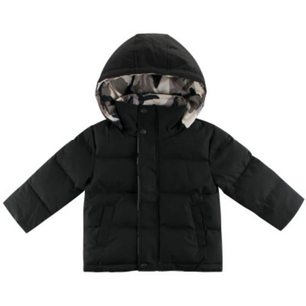 Детские вниз пальто мальчики и девочек зимнее пальто на обеих сторонах дети случайные сплошные цветные куртки детские теплые пальто с капюшоном горячая распродажа