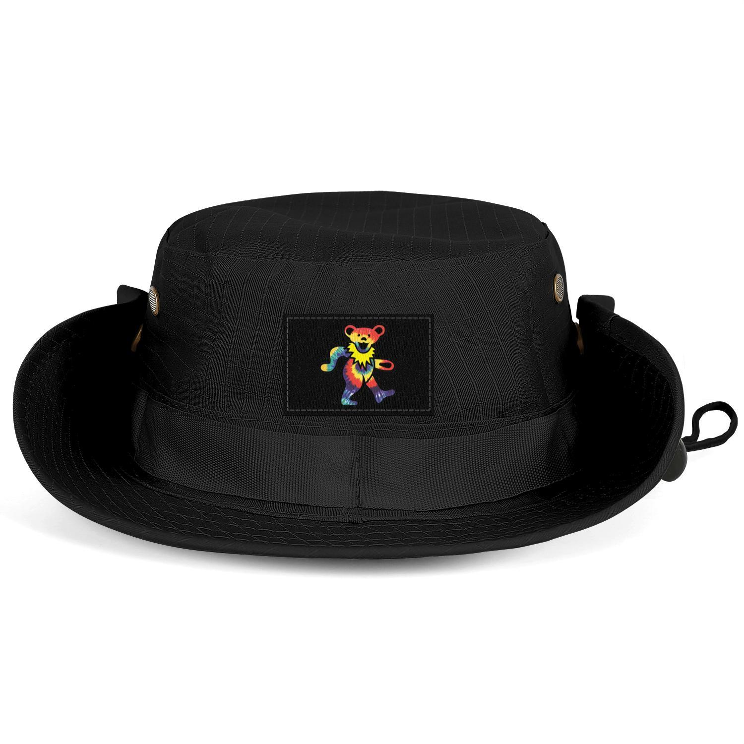 Rock The Grateful dead dancing bear Men Women Bucket Hat Summer Travel Visor Baseball Cap Adjustable Beach Fisherman grateful and rose