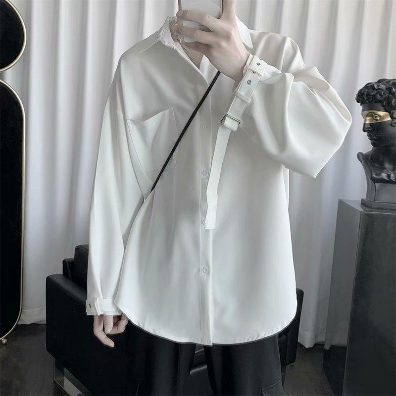 E-Baihui 2020 Européenne et Américaine Summer Chemise à manches longues Homme Chemise occasionnelle Hong Kong Style Mince lâche veste 56984
