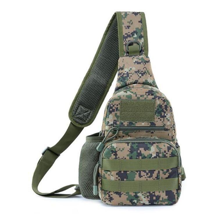 Borsa a tracolla dell'esercito tattico Uomini Sling Crossbody Molle Borse Multicam Camouflage Camping Travel Escursionismo Caccia Zaino militare