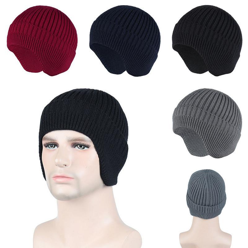 Шапочка вязание вязание крючком шапка для мужчин подростки зимняя теплая шапка открытый спортивный лыжный головной убор
