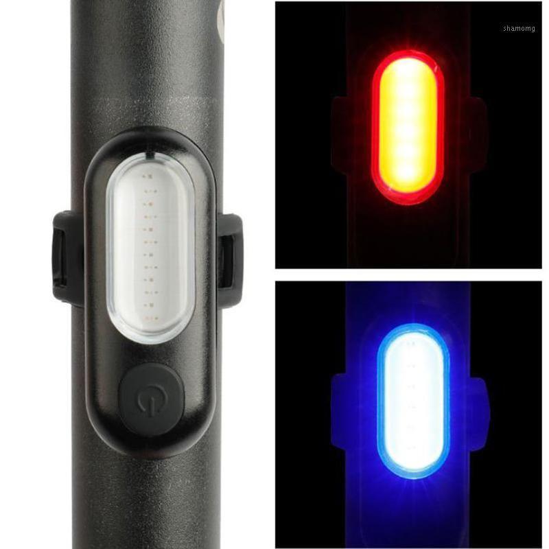 Lumière de vélo LED USB USB Rechargeable de vélo de vélo accessoires de vélo AVERTISSEMENT AVERTISSEMENT Feu arrière pour Bike1