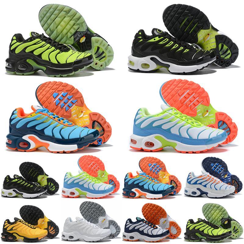 TN Plus 스니커즈 TNS 에어 쿠션 어린이를 실행 통기성 2.0 레인보우 메쉬 TN 2019 유아 아이 enfants 운동 스포츠 신발 플러스 트레이너를 부어