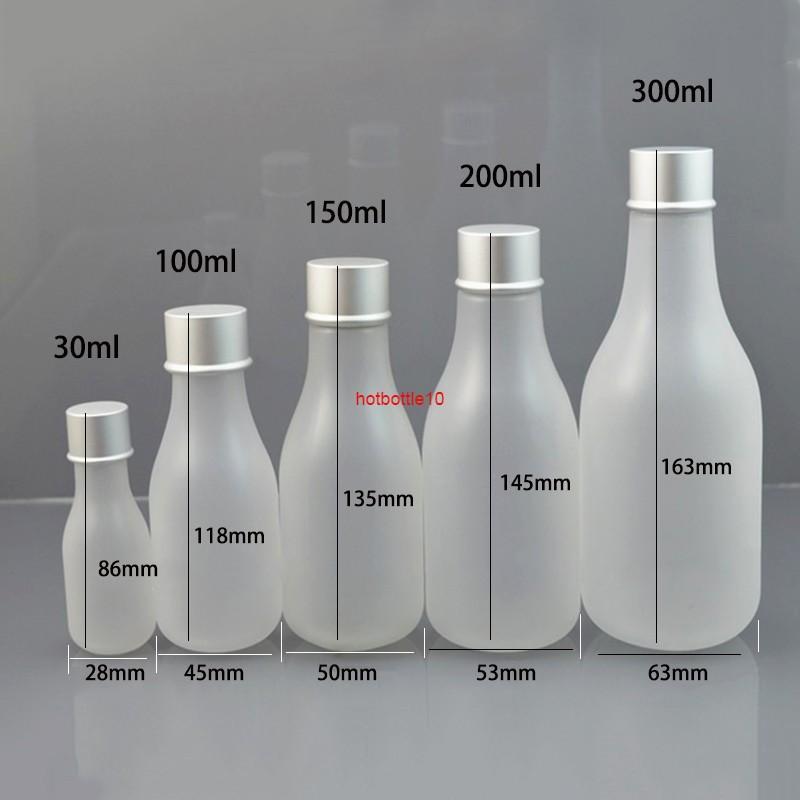 Bottiglia di imballaggio cosmetico di trasporto libero 30ml 100ml 150ml 200ml 300ml la lozione opaca del contenitore della lozione del contenitore del contenitore del contenitore degli imballaggi liberamente shippingshipping