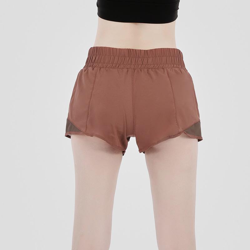 Pantalones cortos de yoga para mujer Gimnasio Alto Gimnasio Fitness Training Tights Deporte Pantalones cortos Moda Secado rápido Sólido Pantalones cortos de yoga
