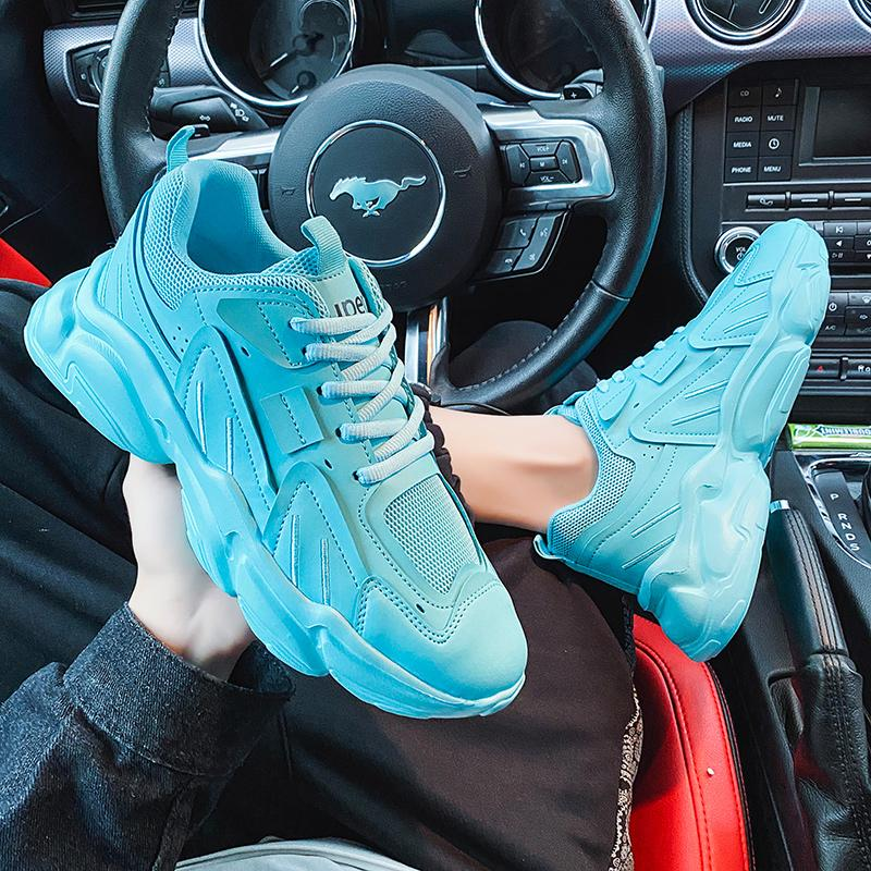 force air Hot Slae Soft Bottom Botting Shoes para hombre Zapatos para correr Tripe Blanco Blanco Azul Tres colores para hombre Entrenadores de moda Moda Chaussures 40-45