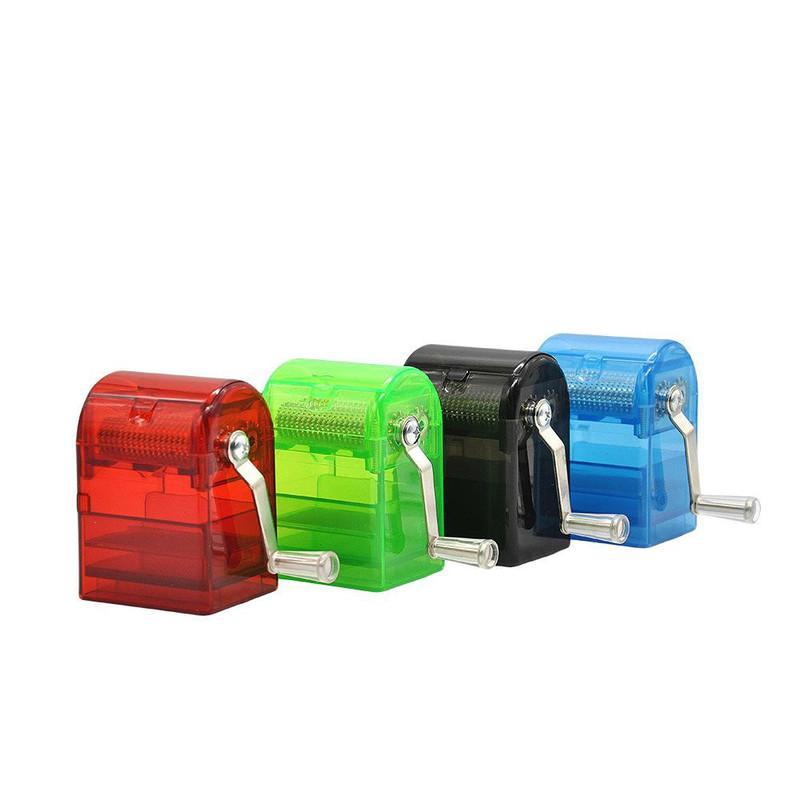 Mini Mini Mini molinillo manual Trituradora de tabaco con caja de almacenamiento Molinillo de hierba con asa Molinillos de trituradora de humo E Cigarette Seco Herb Vapor