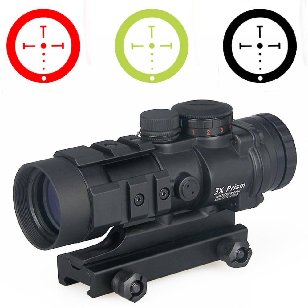 PPT 3X Prizma Kırmızı Dot Sight Balistik CQ Reticle ile Avcılık Kullanımı Için Ücretsiz Kargo CL1-0309