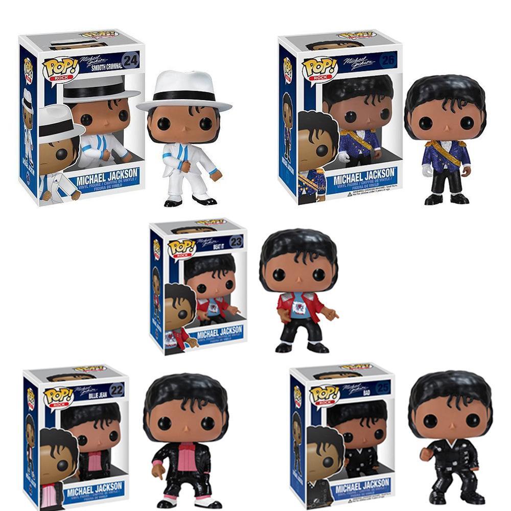2020 Hot Venda MJ Funko Pop Michael Jackson PVC Figura de ação modelo 10cm boneca brinquedo lol 5 estilo de varejo e atacado na venda