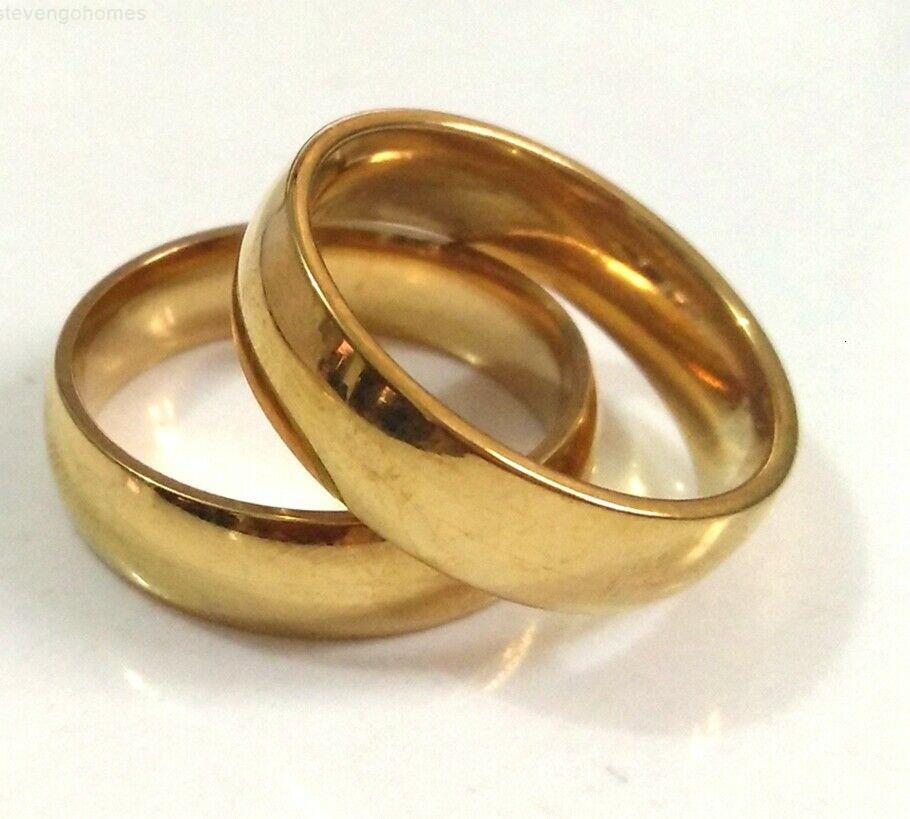 Женщины 60 равенства мужчин 4/6 мм кольцо из нержавеющей стали свадебные украшения