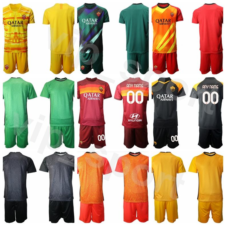 Goalkeeper GK AS Roma Goalie Soccer 13 Pau Lopez Jersey Set 83 Antonio Mirante Color Away Football Shirt Kits Uniform Custom Name Number