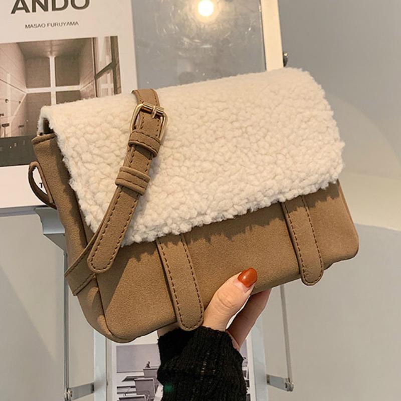 Сумка 2020 Tote плечо женская мода сумка высокого качества Элегантная цепь плюшевый дизайнер новый квадратный мессенджер мягкий женский ommeq vcmdx