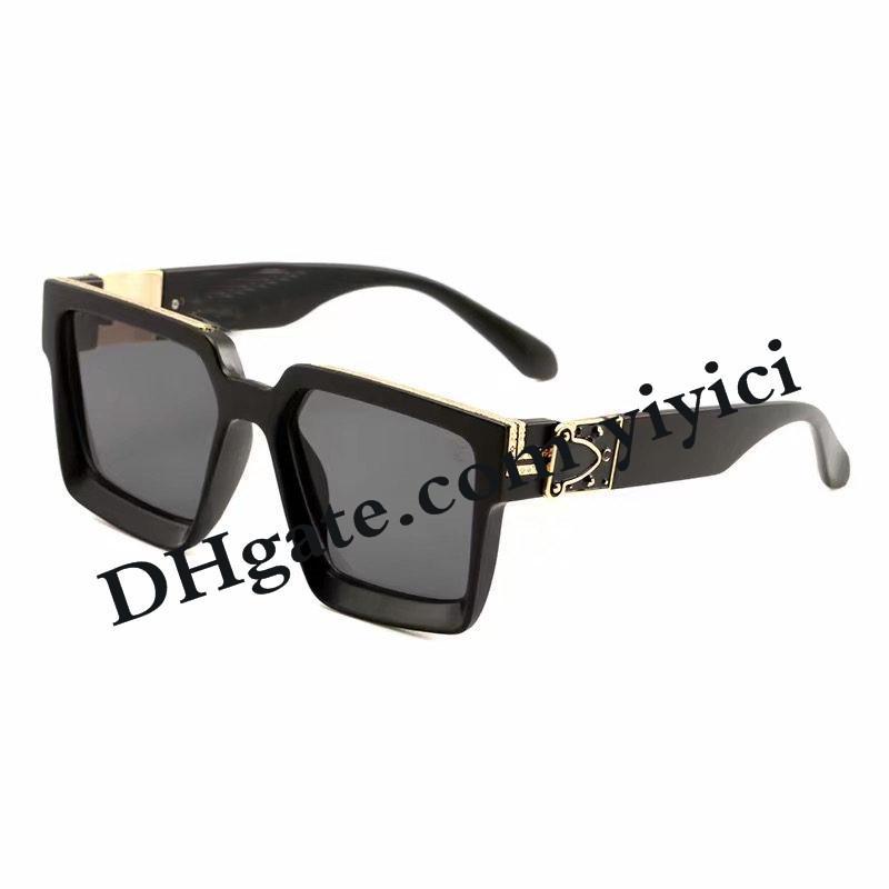 Luxury Millionaire 1165 Mens Designer Designer Gold Sunglasses Occhiali da sole Occhiali da sole Placcato lucido 96006 Vendi occhiali caldi Sun 1.1 per Top Vintage L EKJS