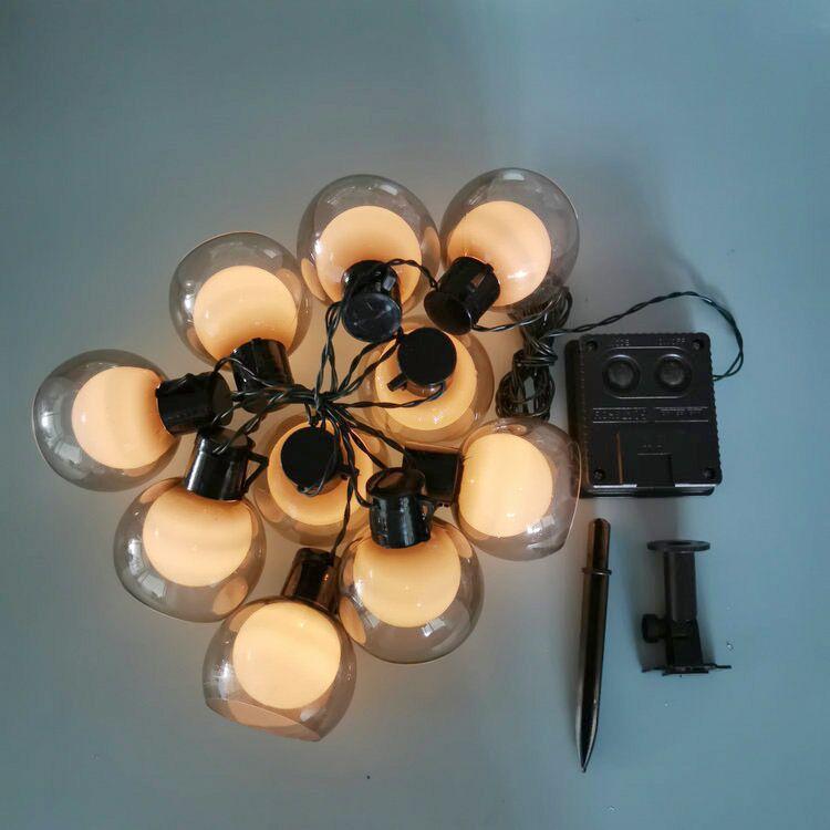 2020 Transparent bulb LED ball wedding ins decorative lamp courtyard solar bulb color string light