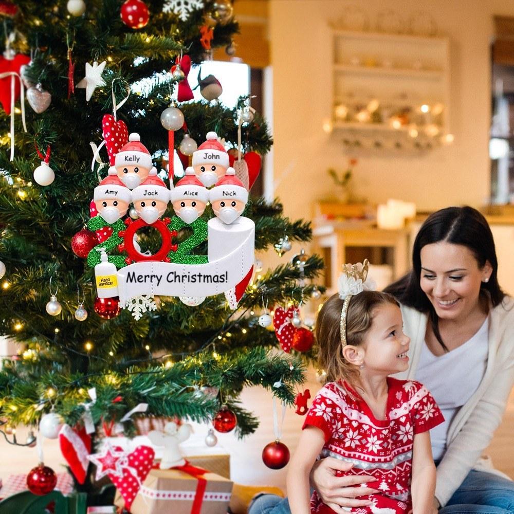 Weihnachtsbaum Ornamente Schneemann-hängende Dekoration DIY-Name-Grüße 2020 personalisierte Weihnachtsgeschenke für Freunde, Kinder-Party-Dekoration