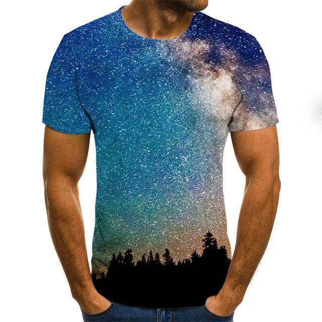 3D drucken lustige T-shirts Herren Casual Kurzarm T-Shirt Männer Streetwear Plus Größe Kleidung
