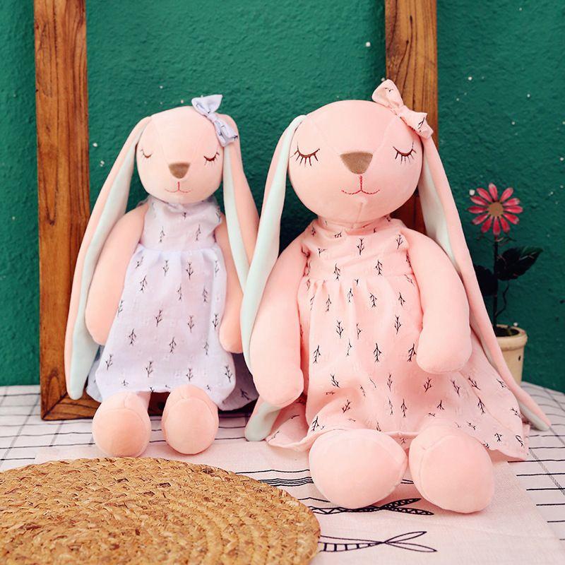 Fabrik Direktes Netzwerk Rotes Kleid AN'AN-Kaninchen-Puppe Plüschtier-Ohr-Kaninchen spielen sogar Mädchen Geburtstagsgeschenk
