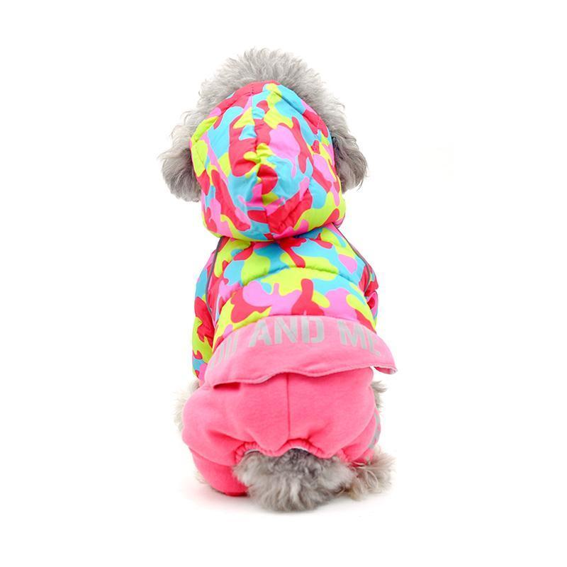 Ropa para perros Otoño otoño invierno ropa con capucha con capucha de cuatro patas para perros Teddy Chaqueta de cálido Costume Chihuahua trajes