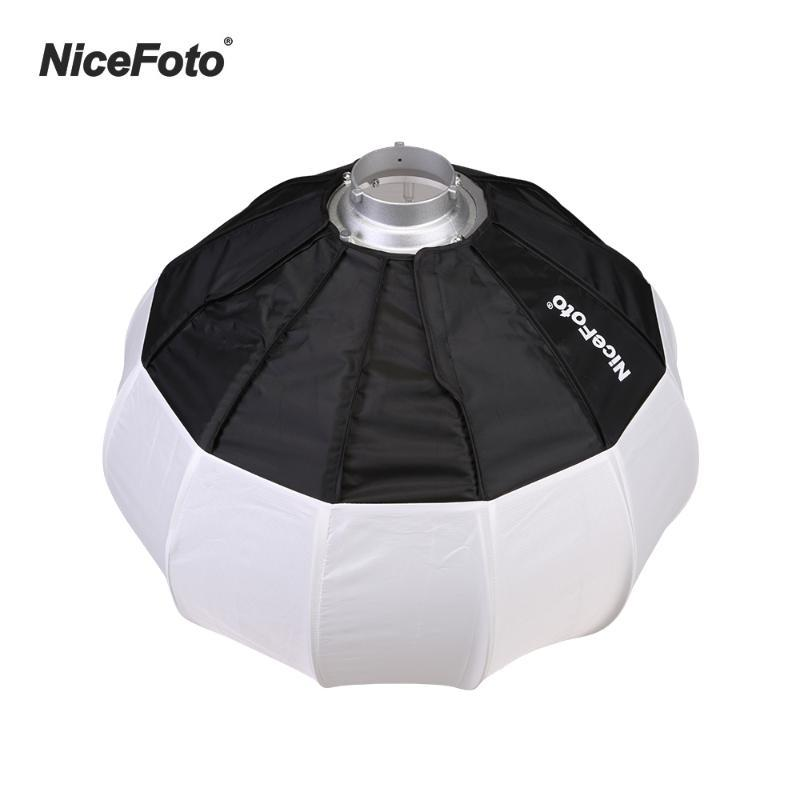 NICEFOTO 50 CM / 20 inç Katlanabilir Softbox Işık Kiti Yumuşak Kutu Fotoğraf Aksesuarları Bowens Mount Hızlı Kurulum Taşınabilir