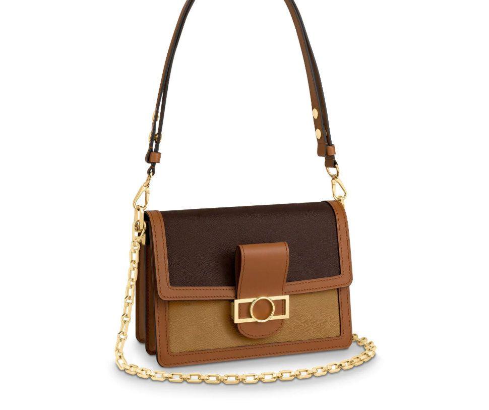 2021 Alta Qualidade New Ombro Bags Dauphine Mini Bolsas Crossbody Mulheres Carteiras Mens de Alta Qualidade Designer de Ombro Totes Messenger Ogsf