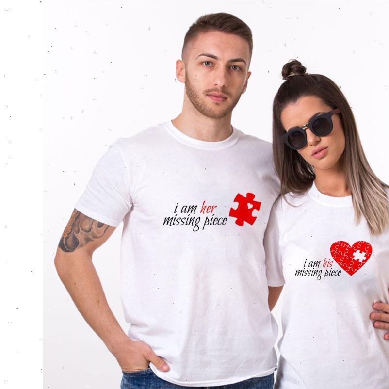 Eu sou sua peça desaparecida amp eu sou seu casal de peça desaparecido camiseta para amantes marido esposa harajuku camisa de namorados