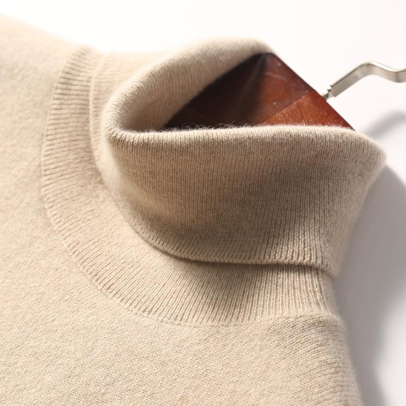 Cashmere Tirtleneck Hommes Automne Hiver Turtle Col À Manches Longues Couleurs Solide Couleurs Classiques Pull Sweater Casual Homme Vêtements