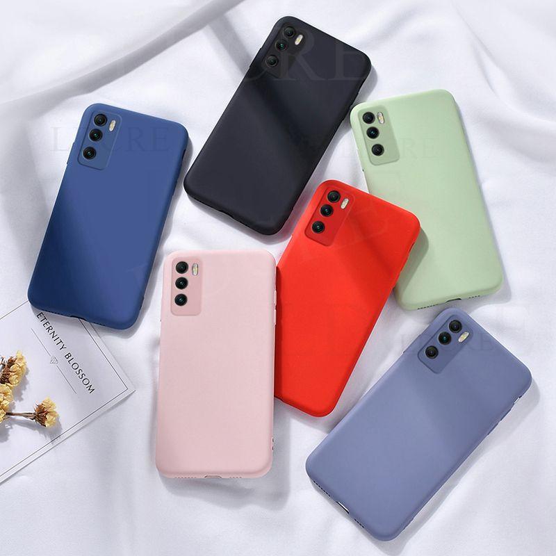 Pour Xiaomi Poco M3 Case en silicone liquide Cas de caoutchouc doux pour Xiaomi Poco M3 Poco X3 NFC Xiaomi 10T Pro Mi 10T Lite