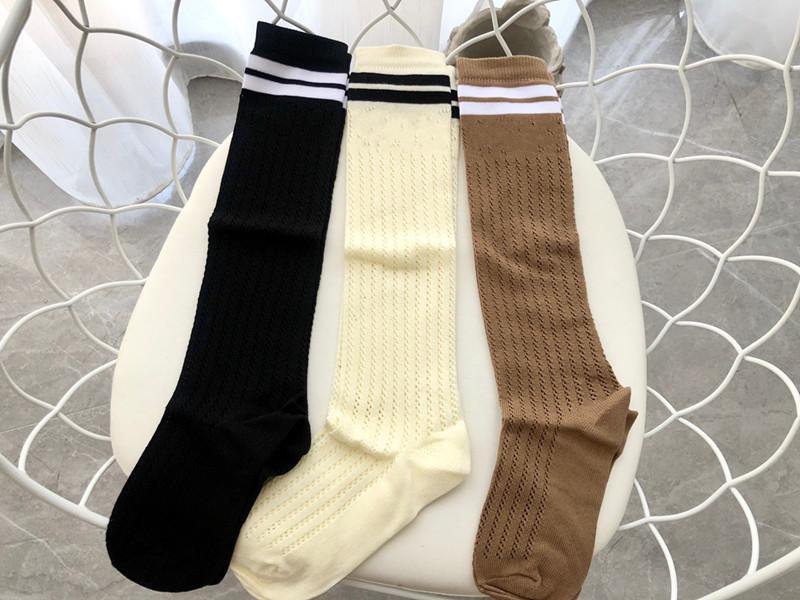 Yeni Tasarımcı Pamuk Net Hosiery Çorap Çorap Kadınlar Için Moda Bayanlar Kızlar Streetwear Spor Çizgili Çorap Çorap Sıcak Satış