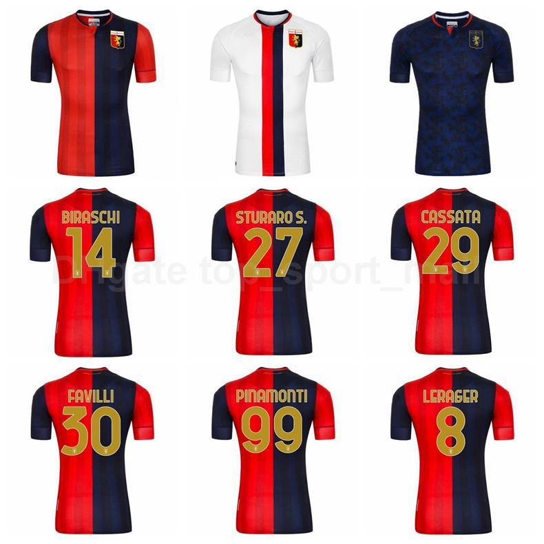 2020 2021 CCC Cricket Genoa Soccer Jersey 18 Ghiglione 37 PJACA 77 Zappacosta 23 Destro 19 Pandev 5 Goldaniga Badelj Football Shirt Kits