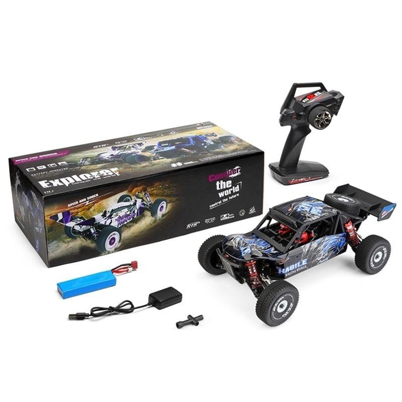 WLToys 124018 60km / h Highspeed RC Auto 1/12 Maßstab 2,4g 4WD RC Off-Road-Rauder RTR Elektrische RC-Kletterauto-Modell Spielzeug für Jungen 201223