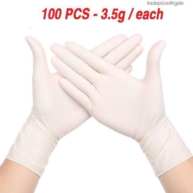 Haushalt XL Großhandel Latex Riesiger Wegwerf Nitril 100 stücke Reinigung Labor Nail art Tattoo Anti Statische Handschuhe Dessle