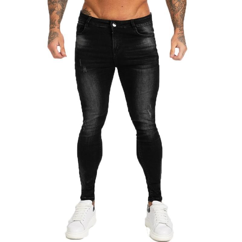 Gingtto бренд джинсы мужские растягивающие брюки высокие талии мужские джинсы черные классические хлопчатобумажные джинсовые удобные мягкие полнометражные ZM12 201105