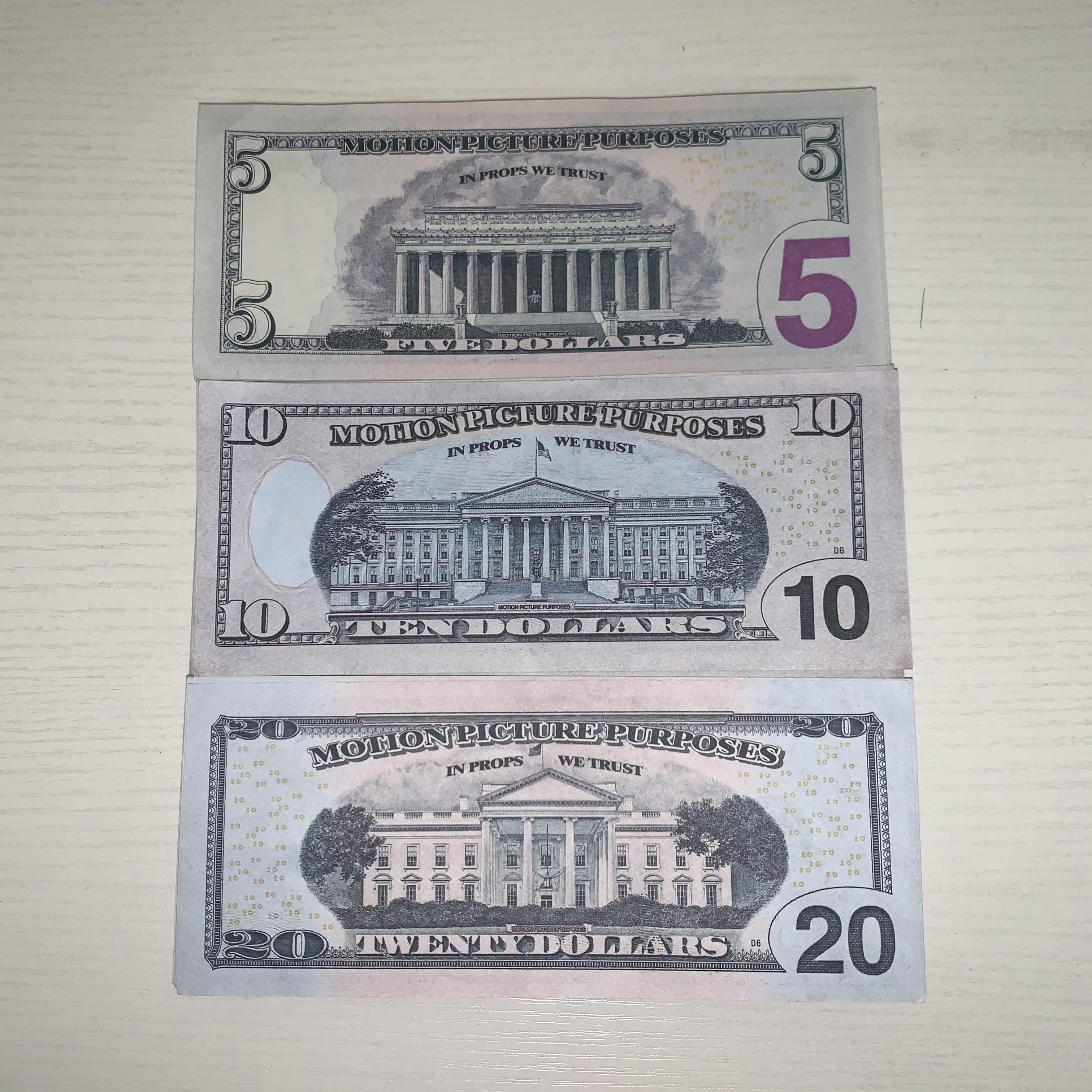 Die neuen 100 heißen Simulationspapierwährung gefälschte Gelddollar-Spoof-Spiel-Praxis-Währung, die T-T-TOKE 139 zählt