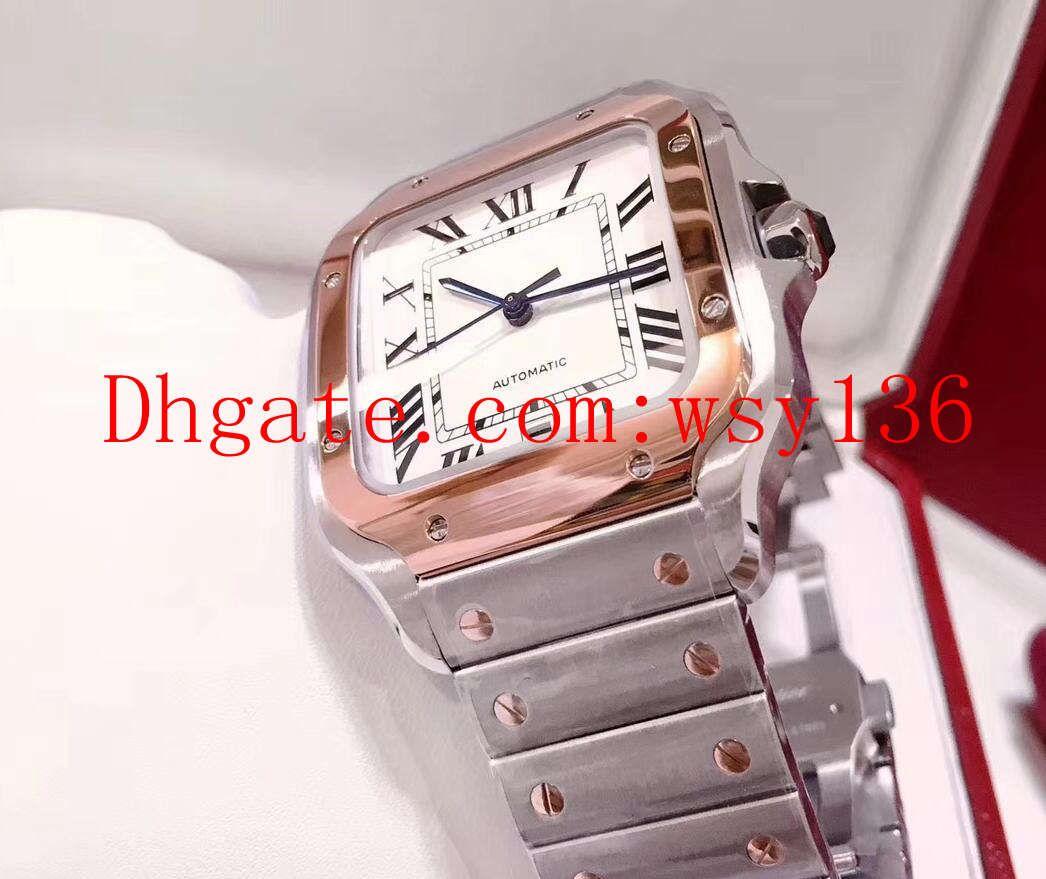 Nuovo w200728G di alta qualità in acciaio W200728G e orologio in argento oro 18 carati con quadrante automatico per uomo orologio da uomo orologio da polso.