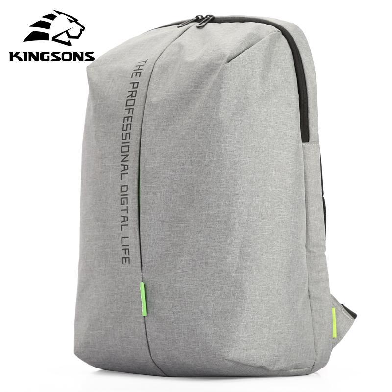 Zaino per laptop Kingsons da 15.6 pollici Borse in nylon impermeabile di alta qualità di alta qualità Business Dayback Uomini e donna Zaino