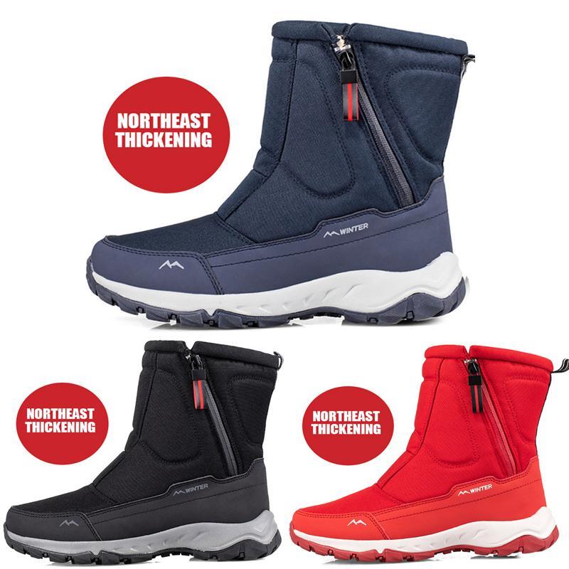 Зимние ботинки для мужчин Женщины Водонепроницаемые снежные Женские Обувь Плоские Повседневные Обувь Зимние Коленые Ботинки Для Женщин Плюс Размер Пару Снежные Обувь