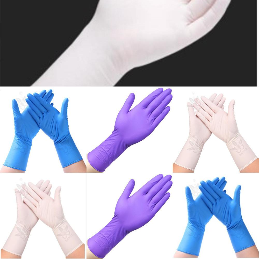 Nitrilo desechable caucho desechable extendido 50 unids espesos guantes guantes de alimentos para el restaurante industrial guantes de limpieza 9qrf4vab E903