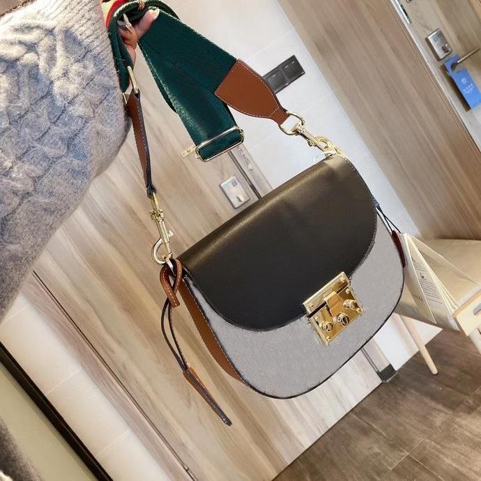 2020 السيدات الكلاسيكية تصميم العلامة التجارية رسول حقيبة عصرية عالية الجودة حقيبة الكتف حقيبة يد سيدة حقيبة تسوق مربع الأصلي مجانا