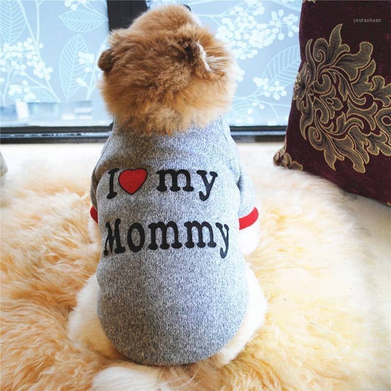 나는 엄마 강아지 겨울 코트 애완 동물 코트 자켓 강아지 치와와 강아지 옷을위한 강아지 겨울 의류 1