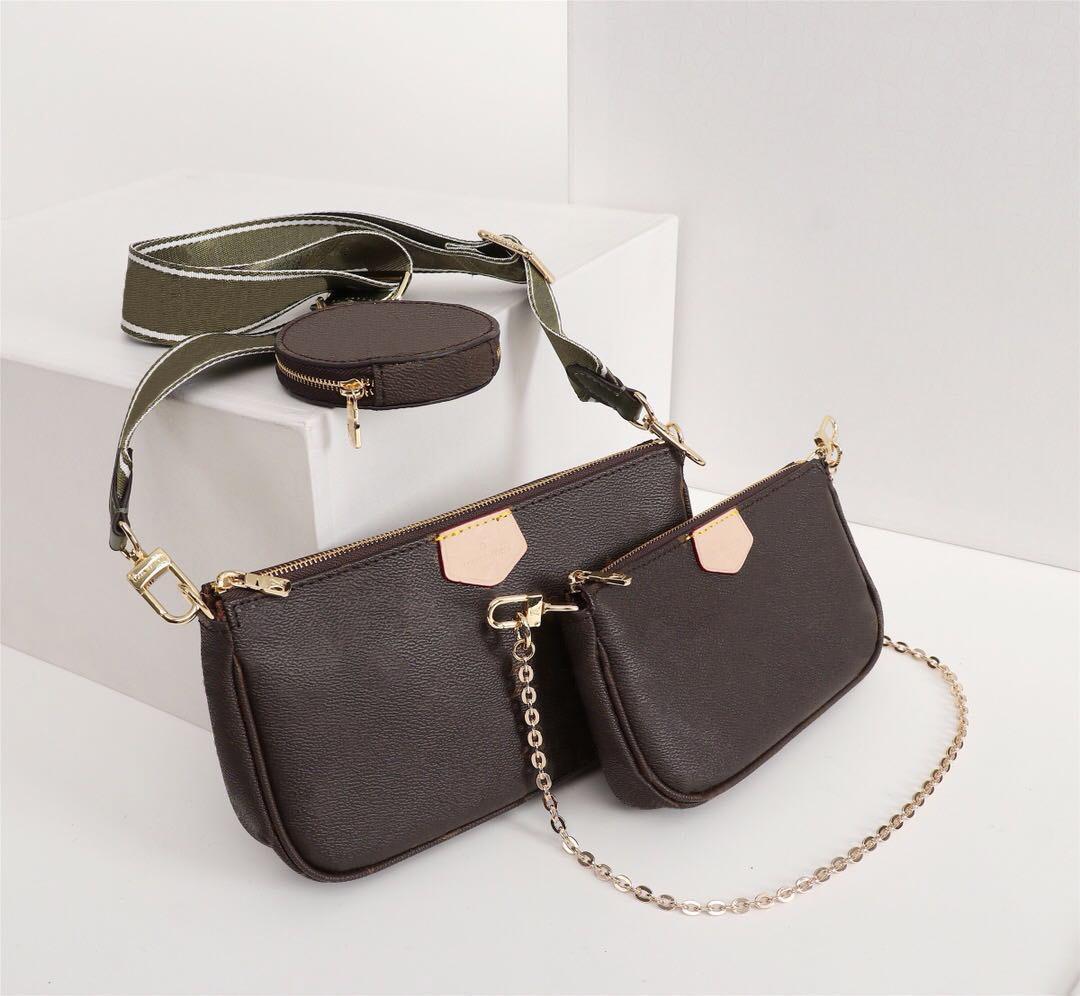 Designer Luxo Favorito Bolsas Bolsas Multi PoChette Acessórios Mulheres Marca Bolsa de Três Peça Terno Pacote de Cintura Real Bolsas De Ombro