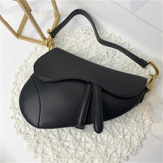 Luxurys Designer Bolsas Diseñadores Bolso Bolsos de cuero genuino con letras Sillín Bolsa de cuero genuino de alta calidad Bolsos de hombro