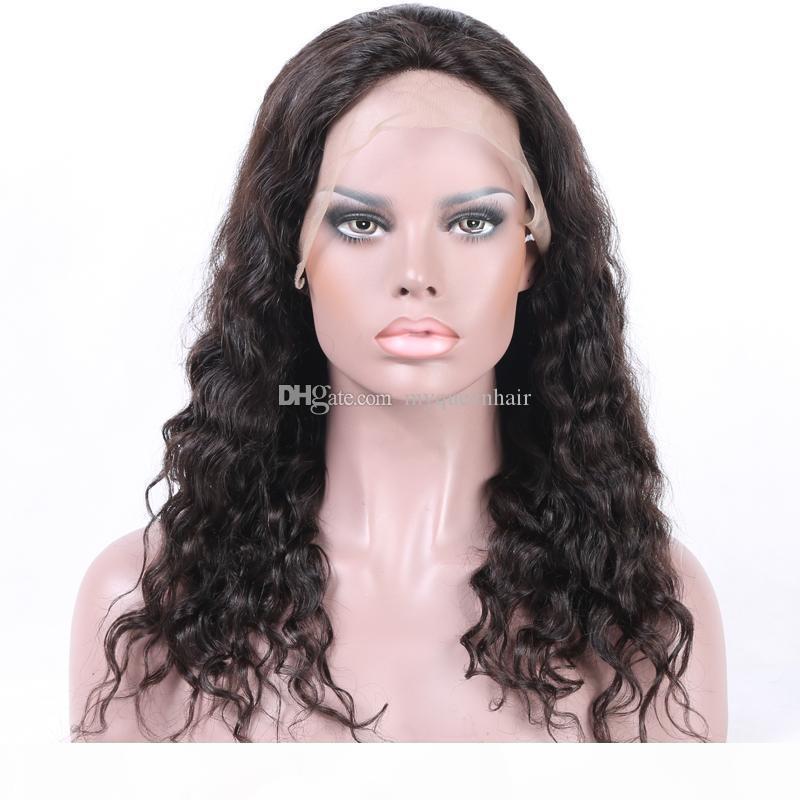 Brezilyalı İnsan Saç Tutkalsız İsviçre HD Dantel Ön Peruk 150% Yoğunluk Doğal Saç Çizgisi Kıvırcık Dantel Peruk Amerikan için