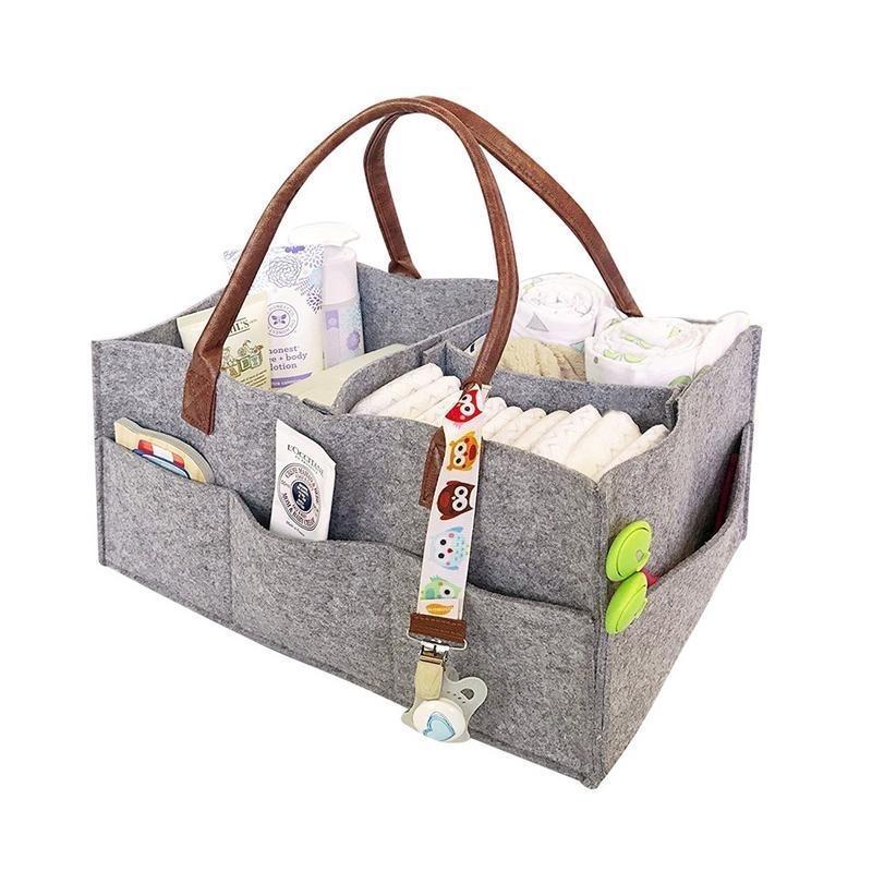 Sac de rangement en tissu en feutre, bébé pliable Baby Taille Cadice Caddy Change Change Table Organisateur Jouet Storage Panier Car Organisateur Y200714