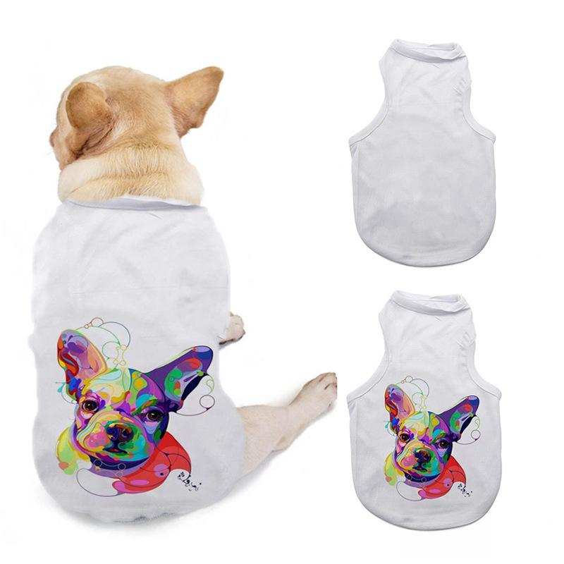 DIY Dogs T Shirt Apparel Sublimation Blank Pets 3 Sizes Sleeveless Dog Puppy Vest Clothes Supplies Polyester Fiber New Arrival 10 5ex M2
