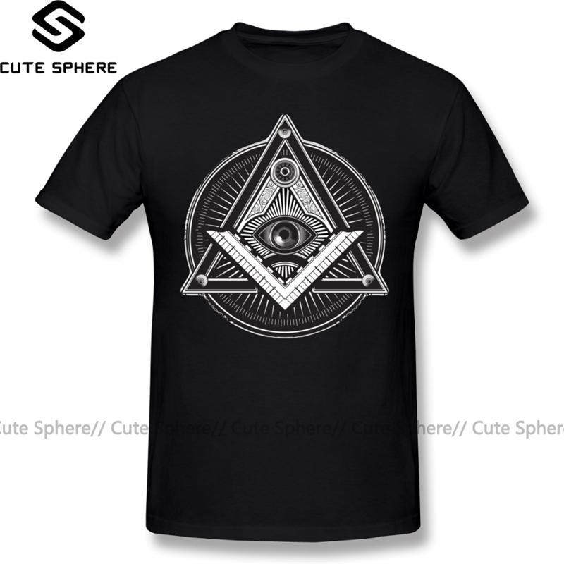 Illuminati T Shirt Illuminati Camiseta Camiseta corta clásica Camiseta de camiseta gráfica 4xl Masculino divertido 100 algodón camiseta Y200409