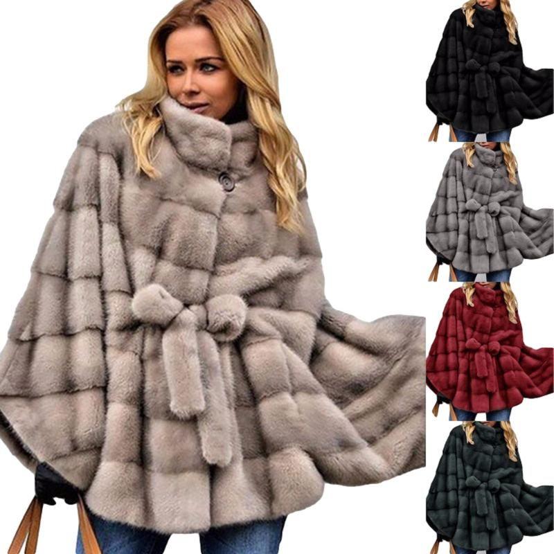 Hiver massif imitation fourrure manteau manteau manteau et vestes femmes fourrure veste fausse couche femme hiver